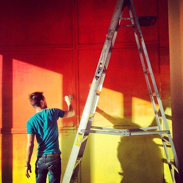 how-to ombré wall #degrade #decor #DIY #ombre