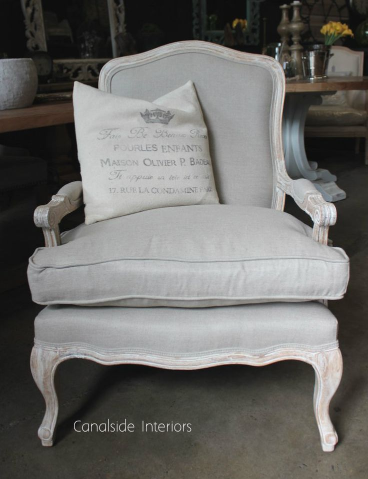 *Catelyn Armchair - Whitewash with cream upholstery - Sold Out - MORE COMING SOON - Canalside Interiors