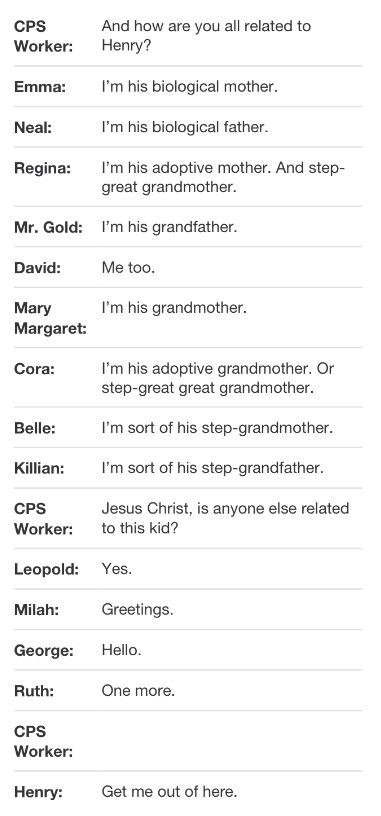 Hahaha... But I want Killian to become his father :) Seriously. Killian Jones and Emma Swan.