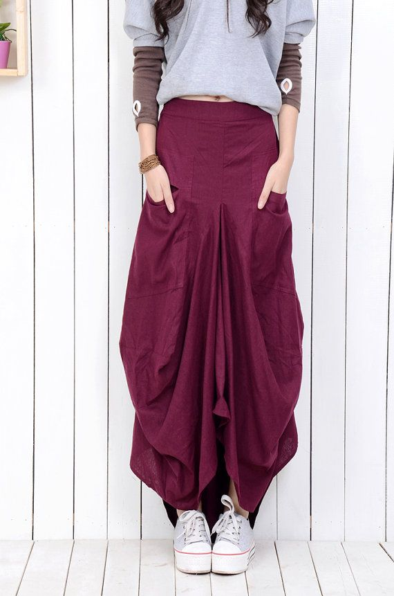 Linen skirts145 by YL1dress on Etsy, $69.99