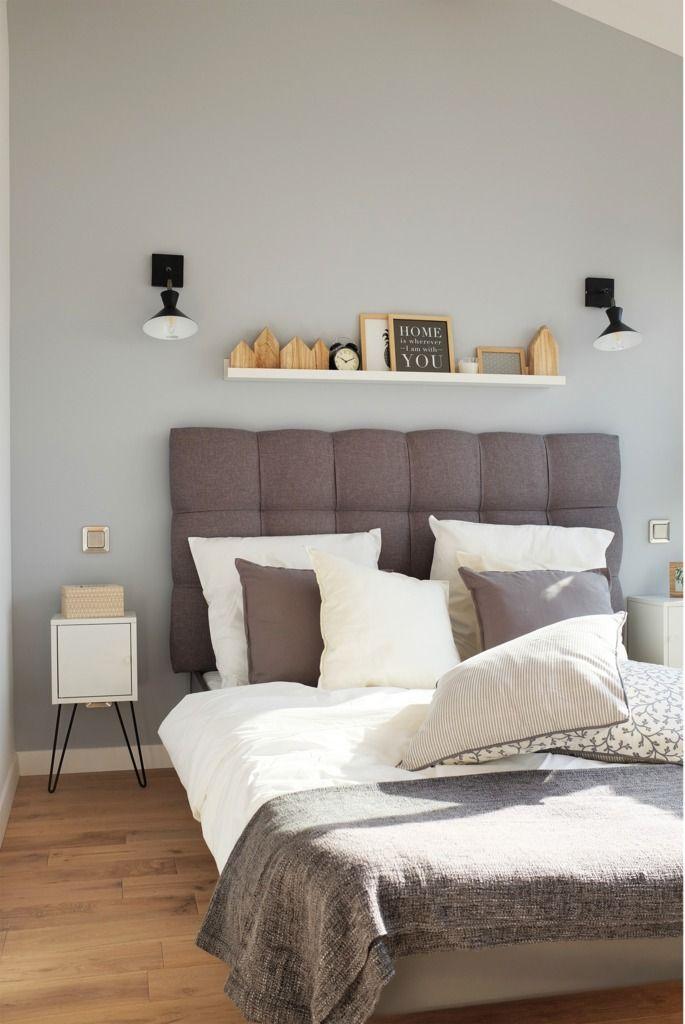 Недостаток полезной площади компенсирует полочка над кроватью.  (индустриальный,лофт,винтаж,стиль лофт,индустриальный стиль,современный,архитектура,дизайн,экстерьер,интерьер,дизайн интерьера,мебель,квартиры,апартаменты,маленький дом,спальня,дизайн спальни,интерьер спальни) .