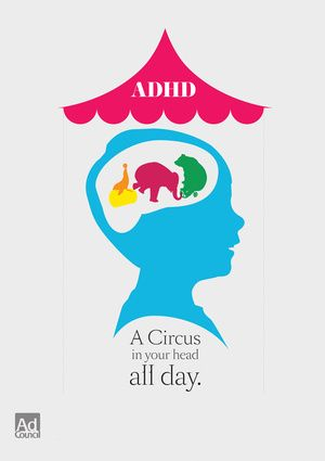 "ADHD- this is the best quick description I have found. Adults and kids ""get it"" and it doesn't put anyone down. Circuses are fun and most can relate to trying to watch all 3 rings at the same time"