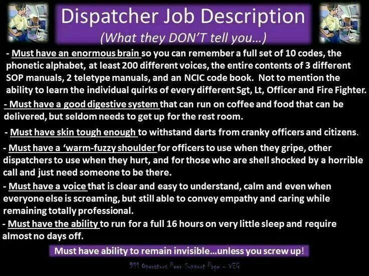 Dispatcher Job Description Extraordinary 380 Best Dispatcher Stuff Images On Pinterest  Police Police .