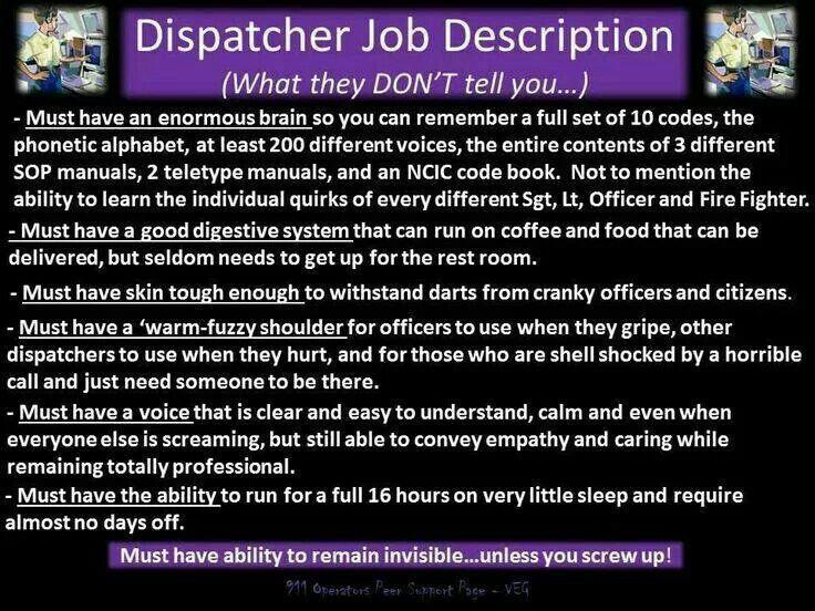 Dispatcher Job Description Dispatcher humor Pinterest Love - dispatcher duties