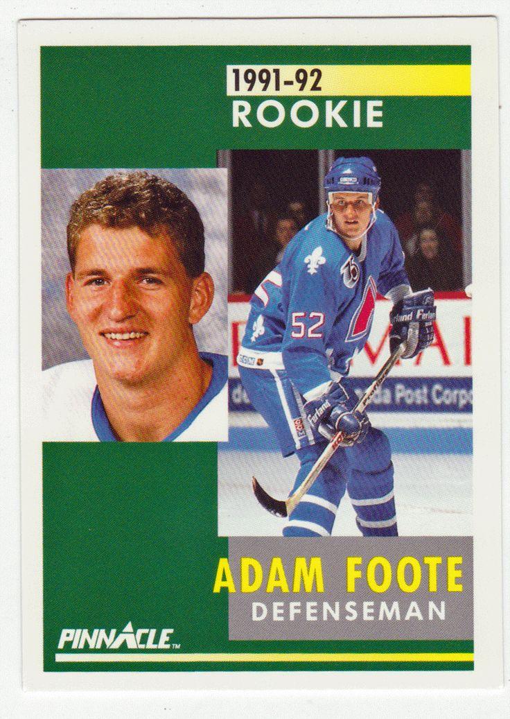 Adam Foote RC # 337 - 1991-92 Score Pinnacle Hockey NHL Rookie