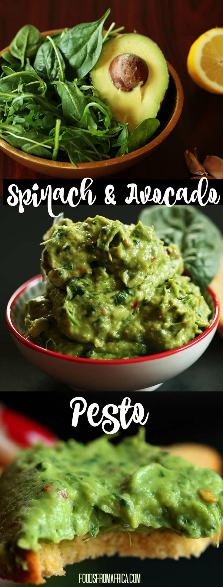 Spinach and Avocado Pesto. Afro-fusion food blog | African recipes | African food blog.