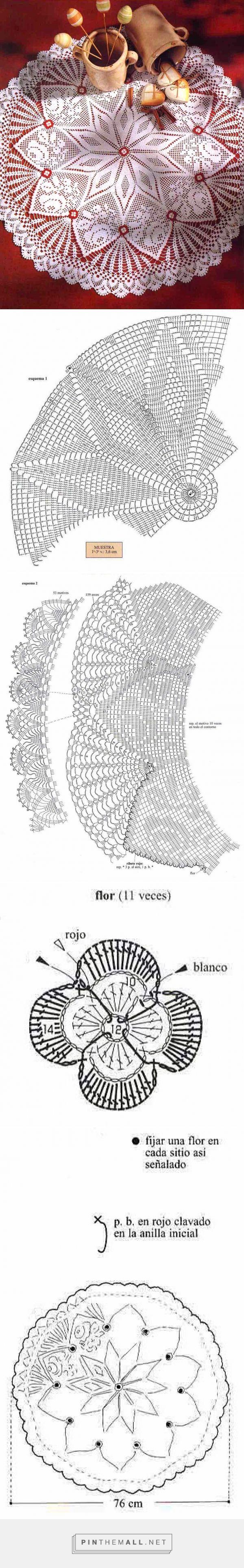 tejidos artesanales en crochet: carpeta inspirada en la naturaleza - created via http://pinthemall.net