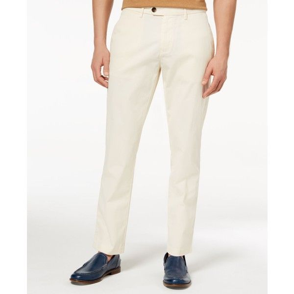 Tommy Hilfiger Men's Darren Classic-Fit Stretch Corduroy Pants ($90) ❤ liked on Polyvore featuring men's fashion, men's clothing, men's pants, men's casual pants, white, tommy hilfiger mens pants, mens corduroy pants, mens stretch pants, mens white pants and mens pants