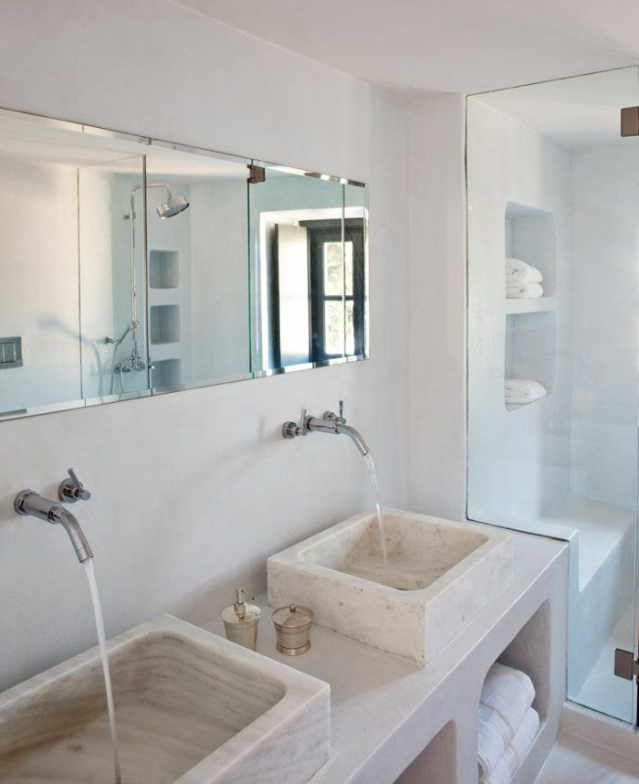 17 meilleures id es propos de grands miroirs de salle de for Grand miroir salle de bain