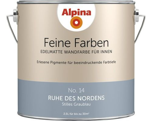 Alpina Wandfarbe Feine Farben Ruhe des Nordens 2,5 l