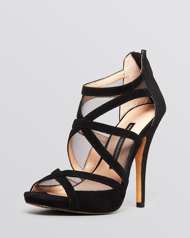 FRENCH CONNECTION Open Toe Platform Evening Sandals - Delano High Heel