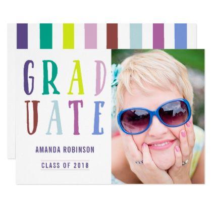 Trendy colorways Graduation announcement photo - college party parties idea diy cyo personalize design