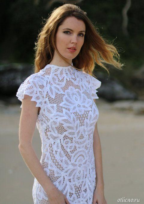 Фотогалерея вязаних накидок для платьев