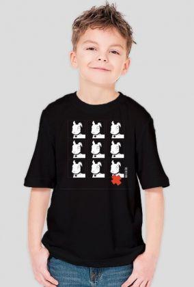 TShirt Pies Max 3x3 B/W (Chłopiec) Czarna