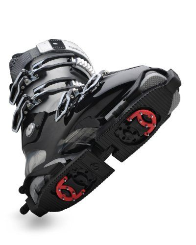 Skiskooty Ski Boot Ice Claws  Skiskooty Claws have reversible steel cleats for added traction on ice  Protection for the Ski Boot Sole  Slip on Rocker Sole  Adjustable Sizing  Folds into a Small Pocket Size