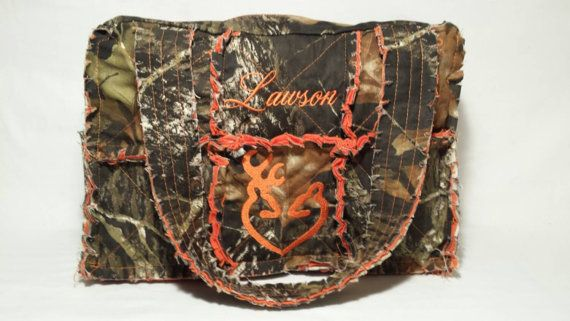 Check out this item in my Etsy shop https://www.etsy.com/listing/227088352/mossy-oak-camo-diaper-bag-large-camo-rag
