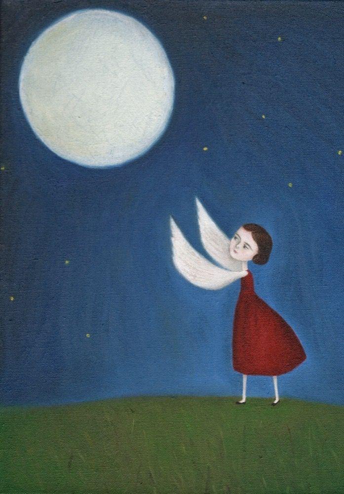 New Moon:: original Archival Print by Sarah Millicent Elliott