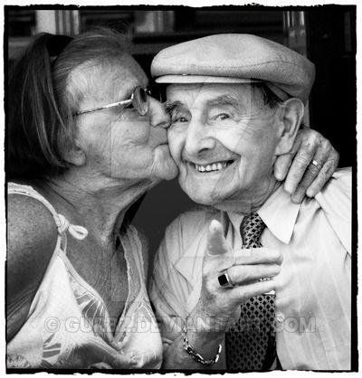 Cute old couple by Gurbz.deviantart.com on @DeviantArt