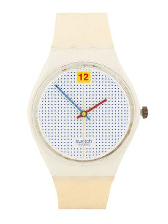 Swatch  Vintage Swatch Dotted Swiss Watch