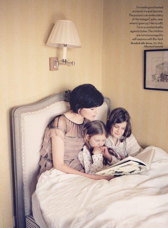 stella tennant & her girls | by bay garnett