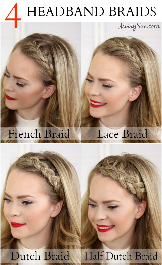 Stupendous 1000 Ideas About French Braid Headband On Pinterest French Short Hairstyles Gunalazisus