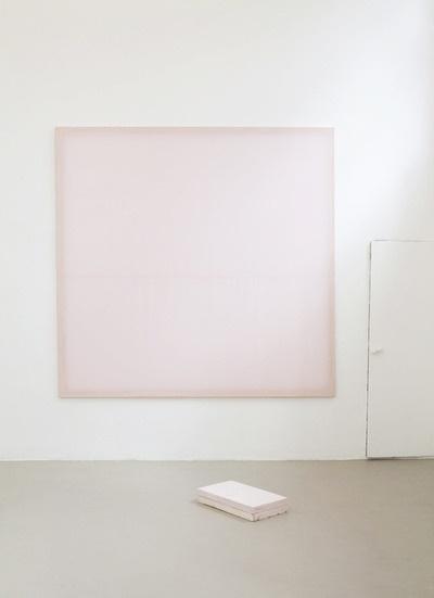 Ian Kiaer.  Styrofoam and mounted taffeta