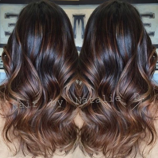 Black balayage\u0027d hair. by melissagarsia