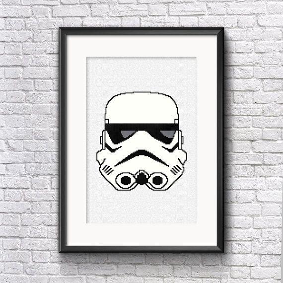 Stormtrooper Cross Stitch Pattern by stitchanddesign on Etsy