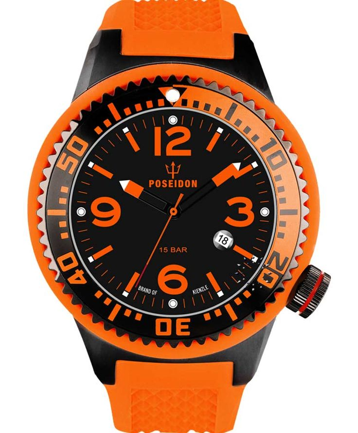 POSEIDON XXL Black Pro Orange Silicone Strap Τιμή: 139€ http://www.oroloi.gr/product_info.php?products_id=34105