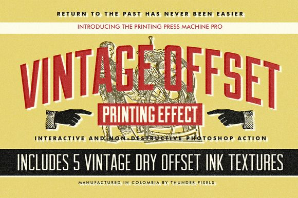 Check out Vintage Offset Printing Effects Kit by ThunderPixels Store on Creative Market
