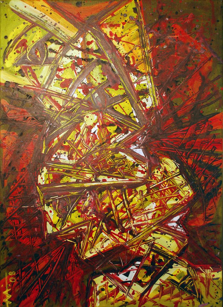 """""""Scream-Act 1"""" Experimentation.Acrylic on canvas 50/70 cm (2008) Created by Anda Anastasopoulou https://www.facebook.com/Andapainting2015   https://plus.google.com/104006191383272659096/posts"""