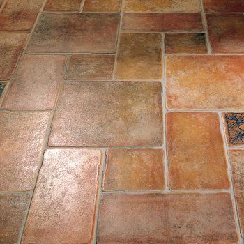 Our stunning Monterrey Floor Tiles in Arancio, Bruciato & Nero styles.