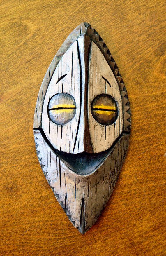 Tiki Mask Wall Hanging on Etsy, $25.00