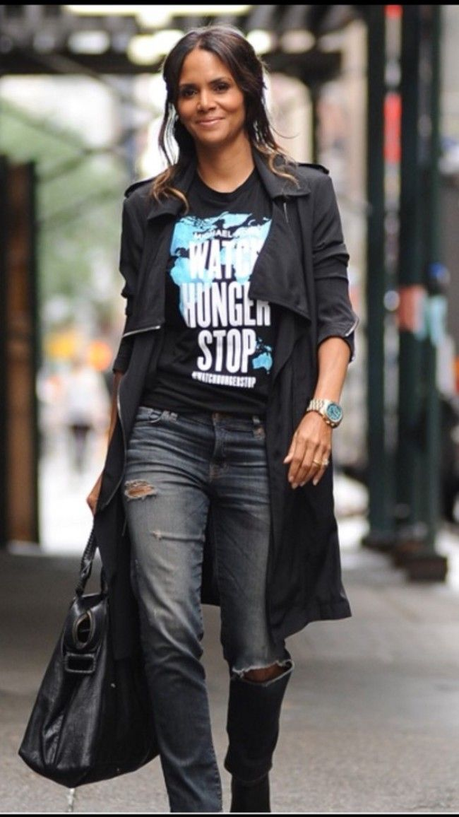 Halle berry in michael kors watch hunger stop t