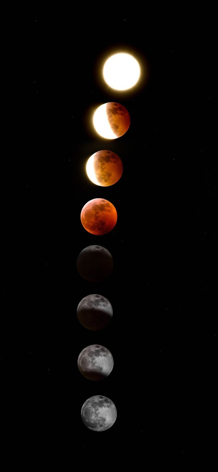 Lunar Eclipse Iphone X Science Beautiful Wallpapers