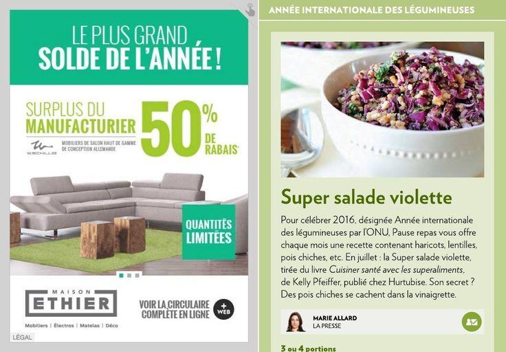 Super salade violette - La Presse+