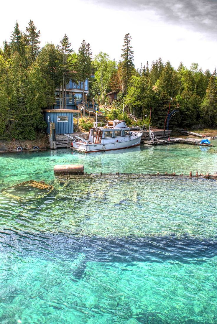 Tobermory, Ontario, Canada any place with water like is a place I want to be