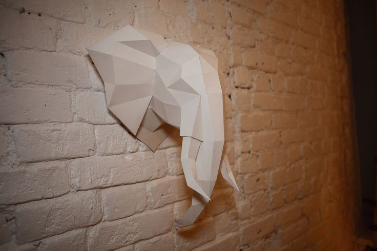 Elephant head - голова слона.  To buy the file with the manual on gluing and the 2d elephant head template: paypal https://sellfy.com/p/j5IS/ visa, mastercard https://gum.co/elephant   Купить файлы развёртки и инструкцию к склейке на русском языке paypal https://sellfy.com/p/vKzS/ visa, mastercard https://gum.co/elephant_rus