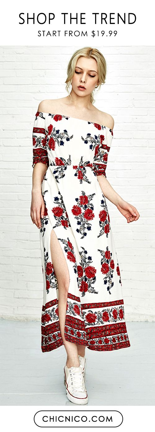 Get out of spider web and fall in love this floral dress! Enjoy this summer luxe at chicnico.com