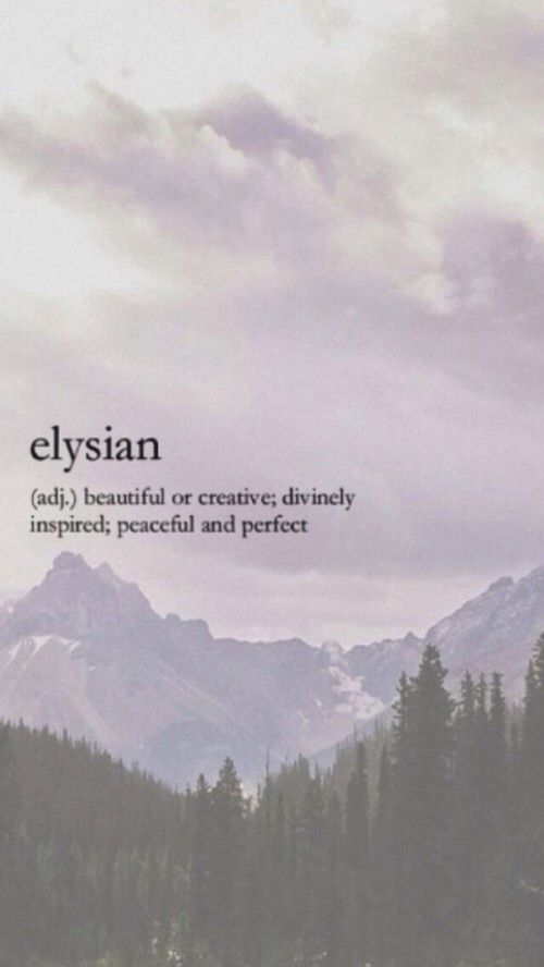 Elysium or the Elysian Fields (Ancient Greek: Ἠλύσιον πεδίον, Ēlýsion pedíon) is a conception of the afterlife that developed over time and was maintained by some Greek religious and philosophical sects and cults