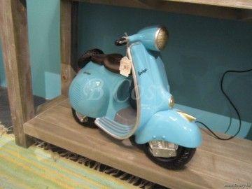 J-Line Spaarpot vespa scooter blauw 40H