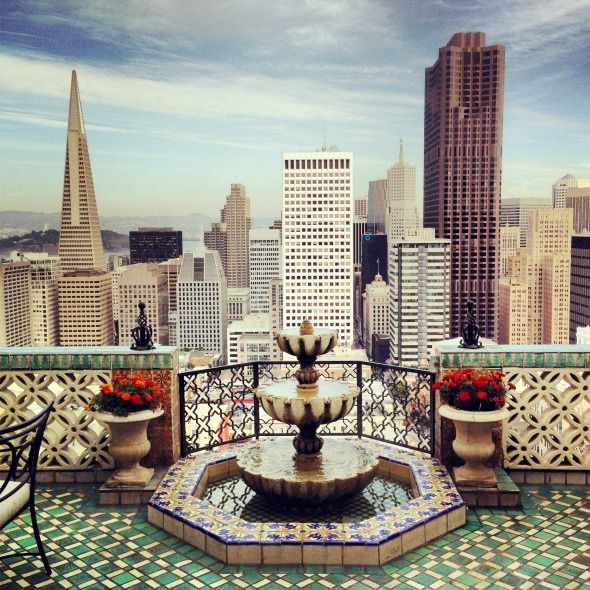 Living life to the fullest! The View from The Fairmont San Francisco Hotel's Penthouse Suite