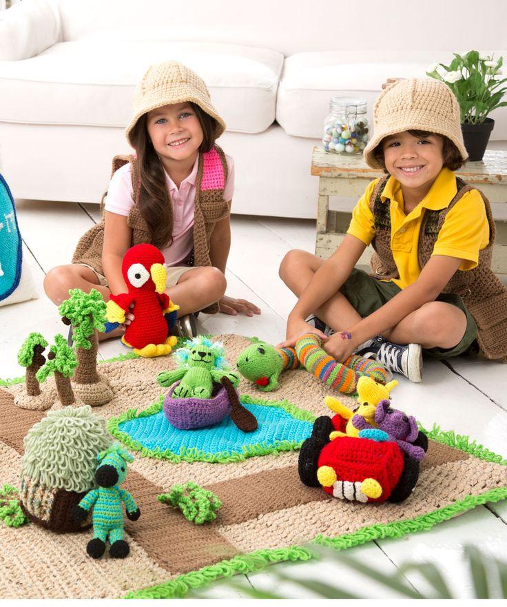 Safari Play Set Crochet Pattern   Red Heart