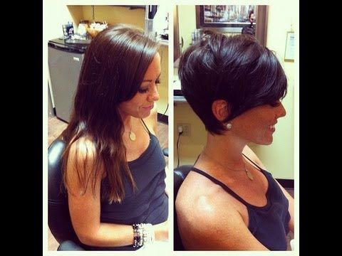 haircut long to great pixie cut frankie sandford style - YouTube