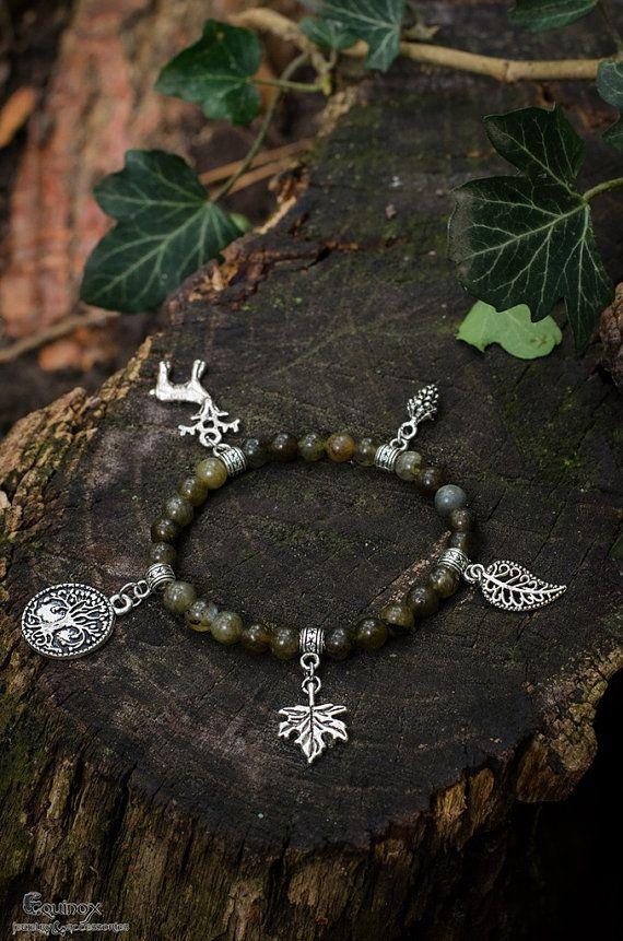 Forest Spirit bracelet  pagan bracelet  pagan by VictoriaEquinox  #paganjewelry