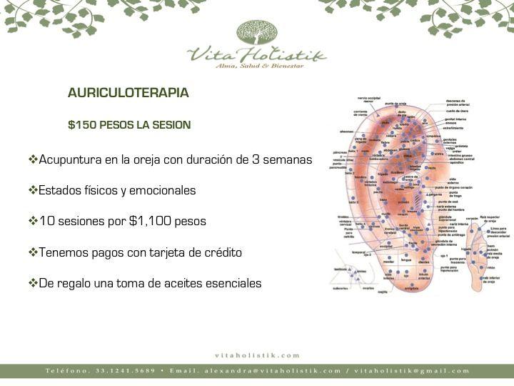 ⚛️Auriculoterapia 💯Súper precio de $150 pesos por zona ✅Duración de 3 semanas 🔝10 sesiones en 1,100 pesos ✴️Una excelente alternativa para combatir enfermedades físicas o emocionales