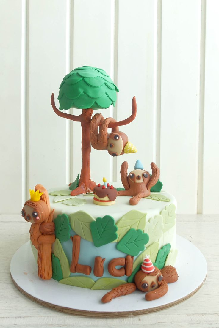 Cakes | What a Sloth | Cottontail Cake Studio | Sugar Art ...