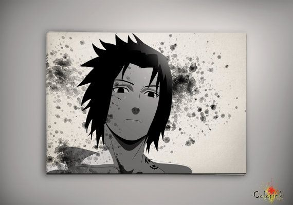 Naruto Shippuuden Uchiha Sasuke Watercolor Print 8x10 Archival Print - Art Print - Wall Decor Art Poster- Anime Print- Manga -Cartoon on Etsy, 62,25 zł