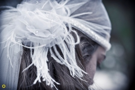 Cleodora Veil on Kalogria Beach, Mani - Nymphi Design Bridal Accessories - Greece