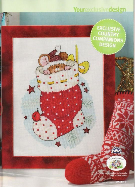 Country Companions Merry Christmouse!  Cross Stitch Crazy Issue 117 November 2008 Saved